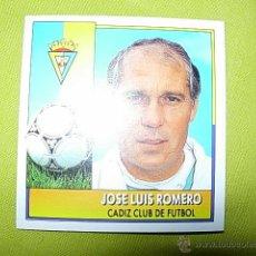 Cromos de Fútbol: ROMERO CADIZ LIGA ESTE 92/93 COLOCA NUEVO. Lote 50352418