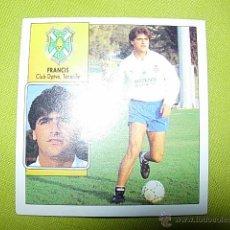 Cromos de Fútbol: FRANCIS TENERIFE BAJA MUY DIFICIL LIGA ESTE 92/93 NUEVO. Lote 50352677