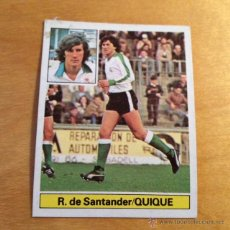 Cromos de Fútbol: EDICIONES ESTE - TEMPORADA 1981 1982 - 81 82 - QUIQUE- RACING SANTANDER. Lote 50369886