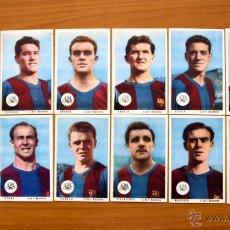 Cromos de Fútbol: FUTBOL CLUB BARCELONA, CHOCOLATES DULCINEA 1955 - TODOS LOS PUBLICADOS. Lote 50370551