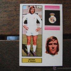 Cromos de Fútbol: CROMO FHER 74/75. NETZER (R.MADRID). NUNCA PEGADO... Lote 50395655