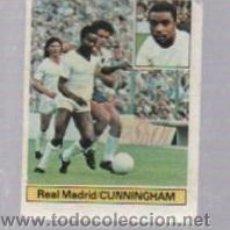 Cromos de Fútbol: CROMO DE FUTBOL. EDICIONES ESTE. CAMPEONATO 81 - 82. REAL MADRID. CUNNINGHAM. Lote 50401345