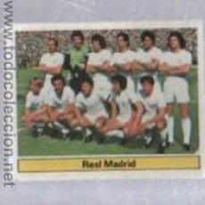 Cromos de Fútbol: CROMO DE FUTBOL. EDICIONES ESTE. CAMPEONATO 81 - 82. REAL MADRID. ALINEACION. Lote 50401381