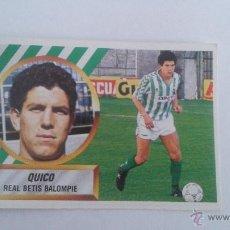 Cromos de Fútbol: 88-89 ESTE. NUNCA PEGADO QUICO REAL BETIS DIFICIL. Lote 50476392
