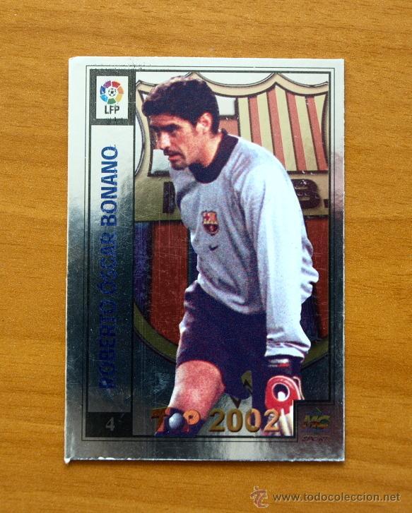 BARCELONA - 4 BONANO - MUNDICROMO - TOP 2001-2002, 01-02 (Coleccionismo Deportivo - Álbumes y Cromos de Deportes - Cromos de Fútbol)