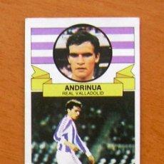 Cromos de Fútbol: VALLADOLID - ANDRINUA, FICHAJE 39 - EDICIONES ESTE 1985-1986, 85-86. Lote 50553182
