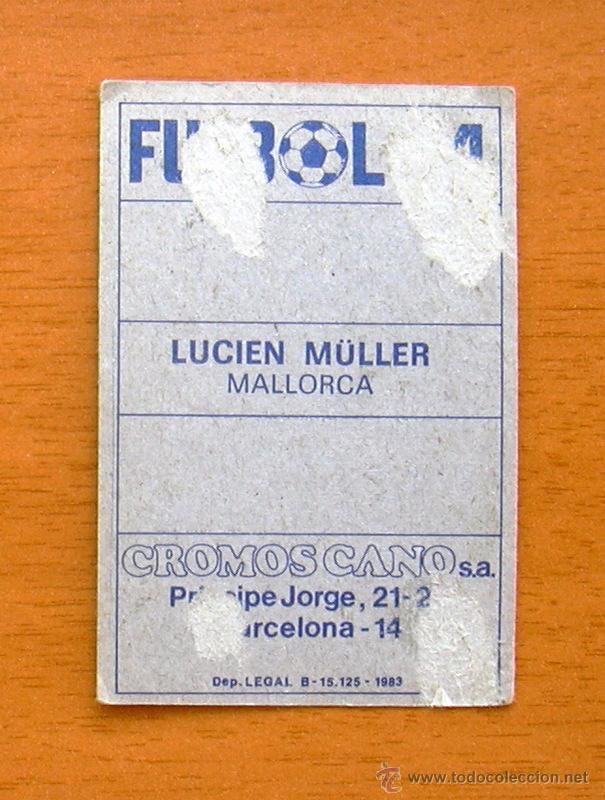 Cromos de Fútbol: Mallorca - Lucien Muller - Cromos Cano 1983-1984, 83-84 - Foto 2 - 50709381