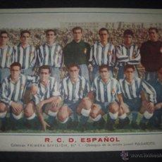 Cromos de Fútbol: R.C. D. ESPAÑOL - COLECCION PRIMERA DIVISION NUMERO 1 - PULGARCITO - (CD-1716). Lote 50732976