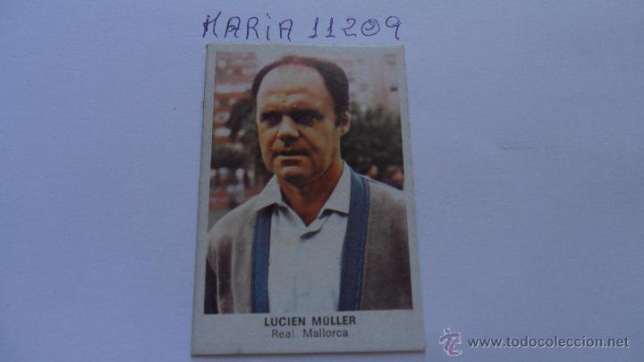 CROMO CANO FUTBOL 84 CROPAN LUCIEN MULLER MALLORCA (Coleccionismo Deportivo - Álbumes y Cromos de Deportes - Cromos de Fútbol)