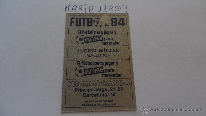 Cromos de Fútbol: cromo cano futbol 84 cropan lucien muller mallorca - Foto 2 - 50773453