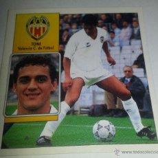 Cromos de Fútbol: COLECCIÓN CROMOS DE FÚTBOL LIGA 92-93 1º DIVISIÓN, ED. ESTE CROMO TONI, VALENCIA C.DE FUTBOL. Lote 51101476