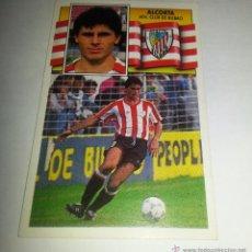 Cromos de Fútbol: COLECCIÓN CROMOS DE FÚTBOL 1ªDIVISION LIGA 90-91 ED. ESTE, ALCORTA ATH. CLUB DE BILBAO. Lote 51156025