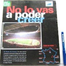 Cromos de Fútbol: 44 CROMOS FRANCIA 1998 MUNDIAL WORLD CUP FRANCE PARTE SECCION DIARIO OLE ARGENTINA COMPLETA. Lote 51217439