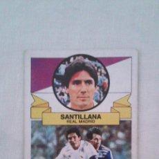 Cromos de Fútbol: 85-86 ESTE. SANTILLANA REAL MADRID CON ERROR IMPRESION PECULIAR MANCHA ROJA EN ROSTRO. NUNCA PEGADO. Lote 51229661