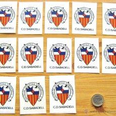 Cromos de Fútbol: LOTE 13 PEGATINAS CD CENTRO DEPORTES SABADELL ANTIGUAS 1980 ORIGINAL 7 X 5 CM FUTBOL CROMO ADHESIVO. Lote 51231860