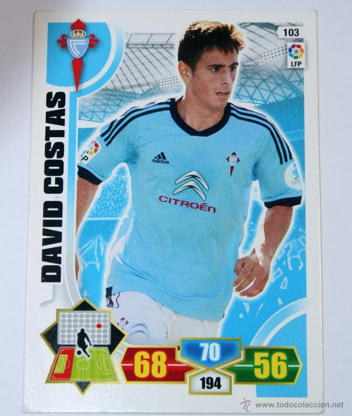 CROMO ALBUM FUTBOL ADRENALYN TRADING CARD GAME PANINI LIGA 2013 - 2014 - Nº 103 DAVID COSTA (Coleccionismo Deportivo - Álbumes y Cromos de Deportes - Cromos de Fútbol)