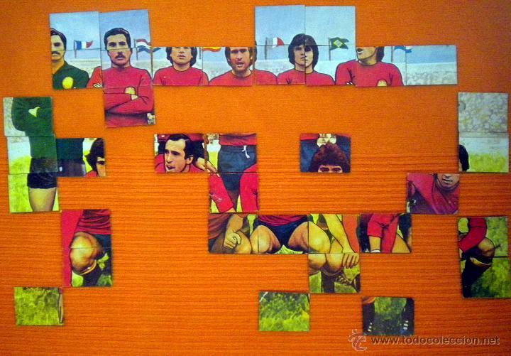 CROMOS SELECCION ESPAÑOLA FUTBOL AÑOS 70 MIGUEL ANGEL CAMACHO PIRRI ASENSI PUZZLE (Coleccionismo Deportivo - Álbumes y Cromos de Deportes - Cromos de Fútbol)