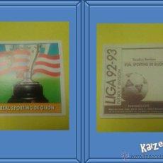 Cromos de Fútbol: ESCUDO. GIJON. SIN PEGAR. EDICIONES ESTE LIGA 92/93. Lote 51406439