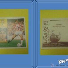 Cromos de Fútbol: JUANELE. GIJON. SIN PEGAR. EDICIONES ESTE LIGA 92/93. Lote 186314048