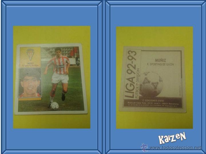 MUÑIZ. GIJON. SIN PEGAR. EDICIONES ESTE LIGA 92/93 (Coleccionismo Deportivo - Álbumes y Cromos de Deportes - Cromos de Fútbol)