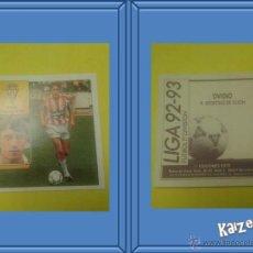Cromos de Fútbol: OVIDIO. GIJON. SIN PEGAR. EDICIONES ESTE LIGA 92/93. Lote 51406657