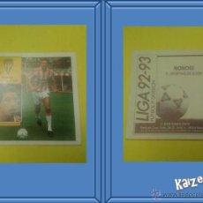 Cromos de Fútbol: MONCHU. GIJON. SIN PEGAR. EDICIONES ESTE LIGA 92/93. Lote 51406686