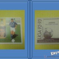 Cromos de Fútbol: JANKOVIC. OVIEDO. SIN PEGAR. EDICIONES ESTE LIGA 92/93. Lote 51409481