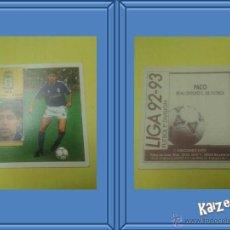 Cromos de Fútbol: PACO. OVIEDO. SIN PEGAR. EDICIONES ESTE LIGA 92/93. Lote 51409519