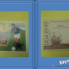 Cromos de Fútbol: CARLOS. OVIEDO. SIN PEGAR. EDICIONES ESTE LIGA 92/93. Lote 51409556