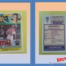 Cromos de Fútbol: ABLANEDO I. GIJON. SIN PEGAR. ED. ESTE 93/94. Lote 120904312