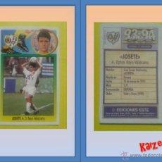 Cromos de Fútbol: JOSETE. RAYO VALLECANO. SIN PEGAR. ED. ESTE 93/94. Lote 120905259