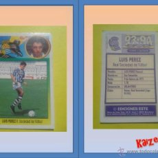 Cromos de Fútbol: LUIS PEREZ. REAL SOCIEDAD. SIN PEGAR. ED. ESTE 93/94. Lote 51509681