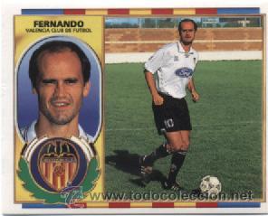 LIGA ESTE 1996 1997 FUTBOL CROMOS VALENCIA - FERNANDO (Coleccionismo Deportivo - Álbumes y Cromos de Deportes - Cromos de Fútbol)