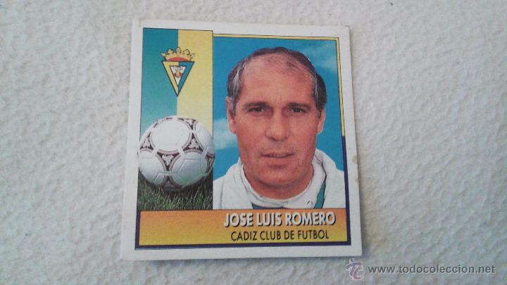 92-93 ESTE. JOSE LUIS ROMERO COLOCA CADIZ (Coleccionismo Deportivo - Álbumes y Cromos de Deportes - Cromos de Fútbol)
