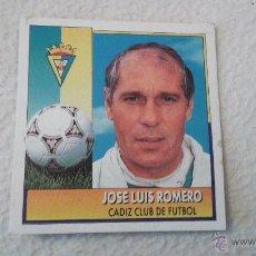 Cromos de Fútbol: 92-93 ESTE. JOSE LUIS ROMERO COLOCA CADIZ. Lote 51587519