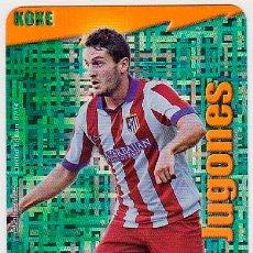 Cromos de Fútbol: MUNDICROMO 2015 JUGONES 7/14 KOKE (AT. MADRID) TETRIS METALCARD LIMITED EDITON. Lote 255453795