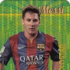 Cromos de Fútbol: #1/45 MESSI BARCELONA GOLDSTAR SECURITY VERTICAL LIMITED EDITION 2015 2016 MUNDICROMO 15 16. Lote 53513262