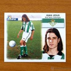 Cromos de Fútbol: BETIS - JUAN JESÚS - COLOCA - EDICIONES ESTE 1999-2000, 99-00 - NUNCA PEGADO. Lote 10990395