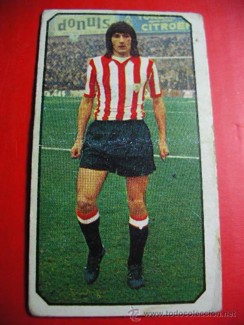 CROMO DE FUTBOL LIGA 77 / 78, ED. ESTE, ATLETHIC DE BILBAO, ESCALZA, 1977 1978 ERCOM (Coleccionismo Deportivo - Álbumes y Cromos de Deportes - Cromos de Fútbol)