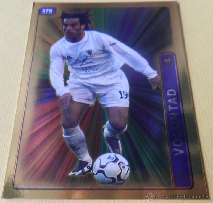 378 PEÑA (ALBACETE BALOMPIE) FICHA BRILLO FONDO LISO MUNDICROMO 2004 2005 MC FICHAS LIGA 04 05 (Coleccionismo Deportivo - Álbumes y Cromos de Deportes - Cromos de Fútbol)