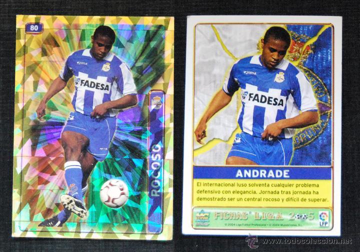 DEPORTIVO CORUÑA - ANDRADE - MUNDICROMO FICHA BRILLO LIGA FUTBOL 2005 - CROMO 80 (Coleccionismo Deportivo - Álbumes y Cromos de Deportes - Cromos de Fútbol)