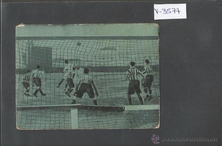 FOOT BALL - ESCENAS INTERESANTES - ATLETIC BILBAO - REAL MADRID - VER REVERSO - (V- 3577) (Coleccionismo Deportivo - Álbumes y Cromos de Deportes - Cromos de Fútbol)