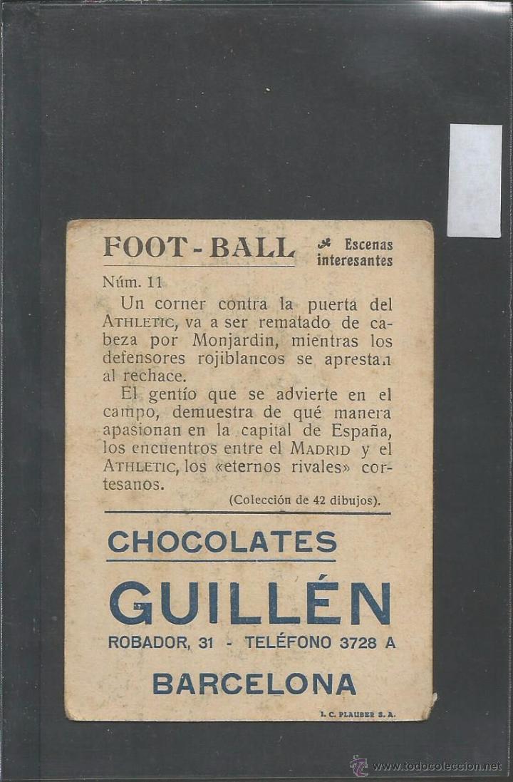 Cromos de Fútbol: FOOT BALL - ESCENAS INTERESANTES - ATLETIC BILBAO - REAL MADRID - VER REVERSO - (V- 3577) - Foto 2 - 52894129