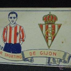 Cromos de Fútbol: CROMO - R. SPORTING DE GIJON - Nº 15 - CHOCOLATES AMATLLER - . Lote 53026951