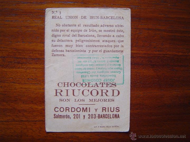 Cromos de Fútbol: REAL UNION DE IRUN - BARCELONA , 1924 - ESCENAS FUTBOLISTICAS y JUGADORES #3 - Foto 2 - 53154765