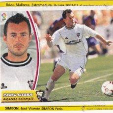 Cromos de Fútbol: ESTE 2003/04 PABLO SIERRA BAJA MUY DIFICIL (RECORTADO) (A-10). Lote 53325417