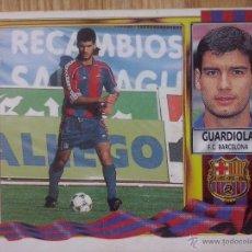 Cromos de Fútbol: CROMO EDICIONES ESTE LIGA 95/96 - 1995 / 1996 GUARDIOLA BARCELONA SIN PEGAR. Lote 53390206