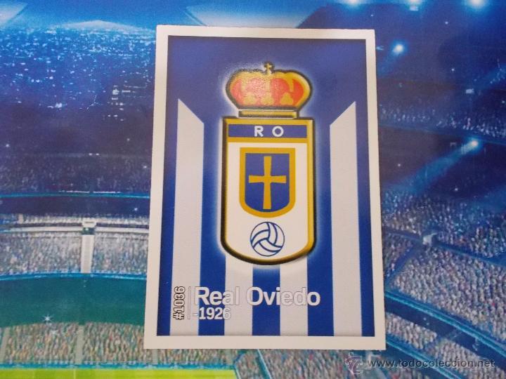 1036 ESCUDO MATE OVIEDO CROMO ALBUM MUNDICROMO PLATINUM FICHA QUIZ GAME LIGA 2015 2016 15 16 (Coleccionismo Deportivo - Álbumes y Cromos de Deportes - Cromos de Fútbol)