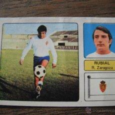 Cromos de Fútbol: CROMO FHER 73-74. RUBIAL (REAL ZARAGOZA). DESPEGADO.. Lote 53474419