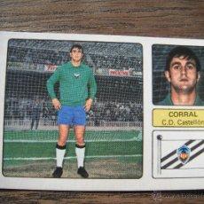 Cromos de Fútbol: CROMO FHER 73-74. CORRAL (C.D.CASTELLON). NUNCA PEGADO.. Lote 53475639